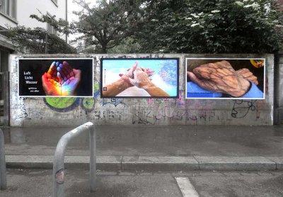Triptychon: Handshake-Corona 2020/21 Dreieck Zürich / Kunsthalle Schlieren